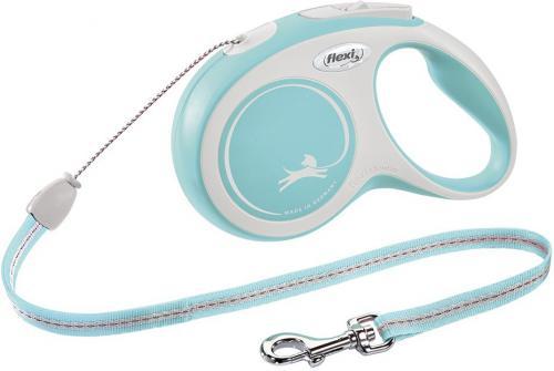 Flexi New Comfort S vodítko lanko 8m/12kg svìtle modrá