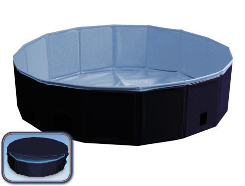 Nobby bazén pro psa skládací modrý s krytem S 80x20cm