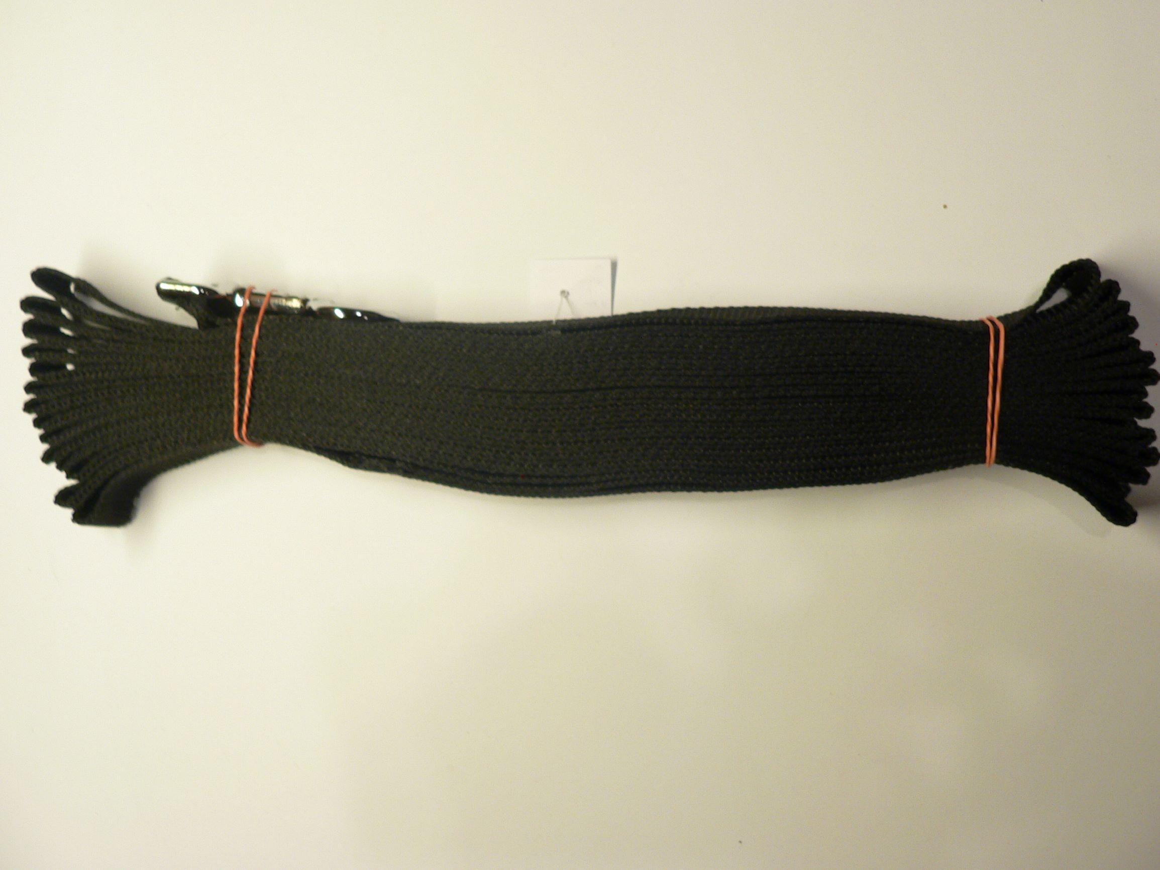 Vodítko z popruhu stopovací 15 m èerná/3 velikosti šíøe - zvìtšit obrázek
