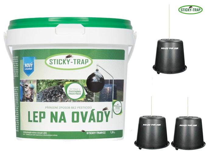 Lep na ovády STICKY-TRAP 1,5kg + 3 kbelíky - zvìtšit obrázek
