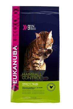Eukanuba Cat Adult Hairball Control Chicken bal.400g/4kg - zvìtšit obrázek