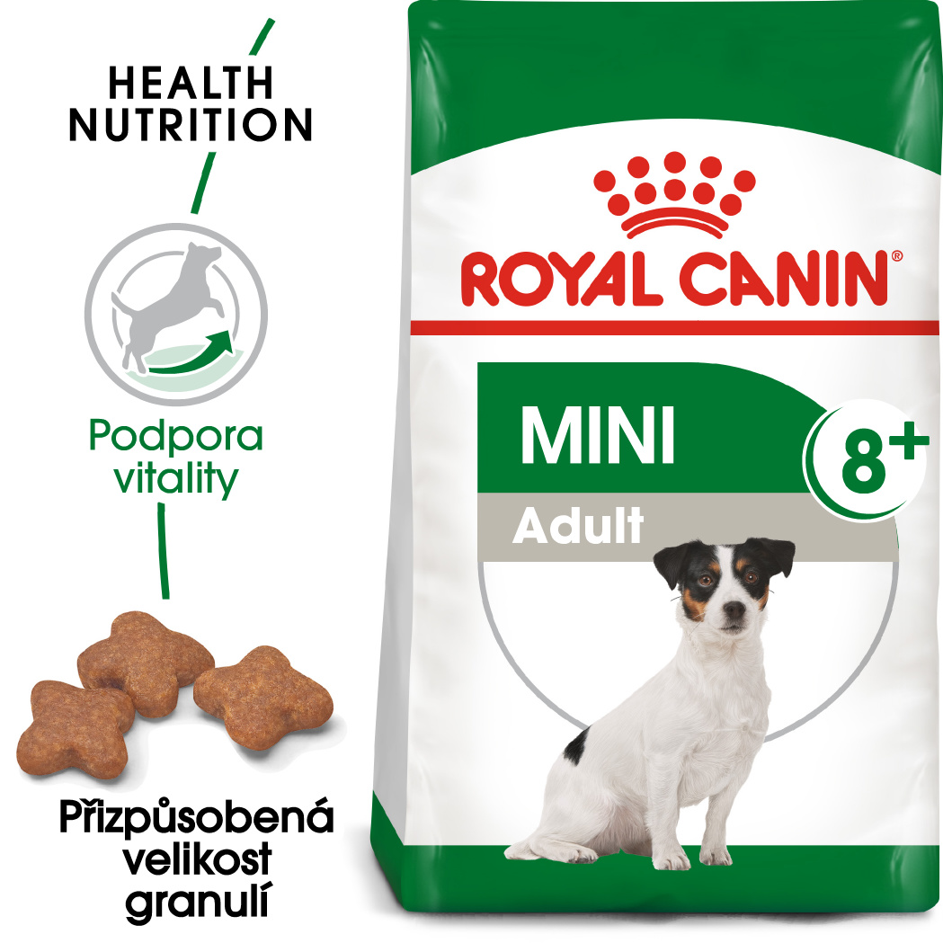 Royal Canin Mini Adult 8+ bal.800g/2kg/8kg - zvìtšit obrázek