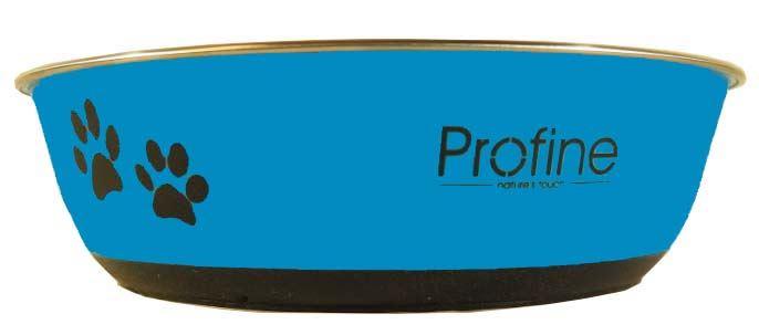 Profine nerezová miska 1,5l s gumou L (modrá) - zvìtšit obrázek