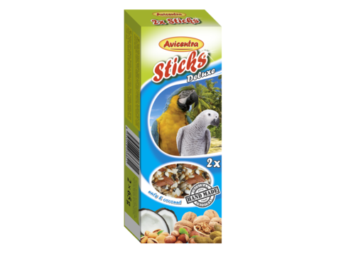 Avicentra tyèinky velký papoušek - oøech+kokos 2ks  - zvìtšit obrázek
