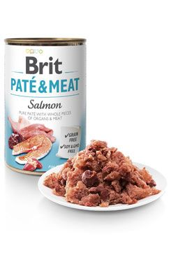 Brit Dog konz Paté & Meat Salmon 800g 6ks - zvìtšit obrázek