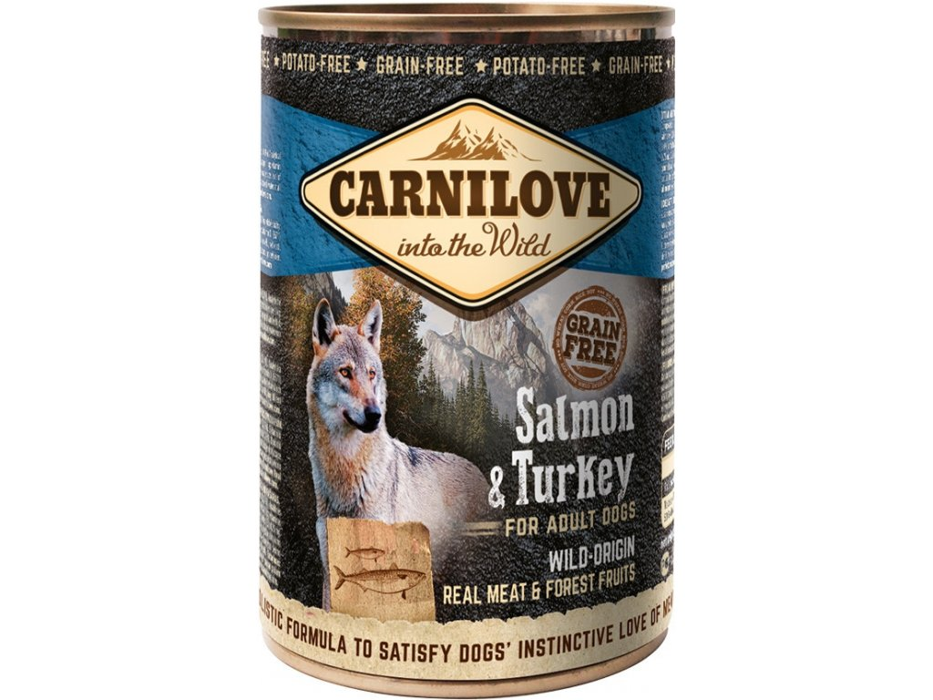 Carnilove Wild Meat Salmon & Turkey 400g - zvìtšit obrázek