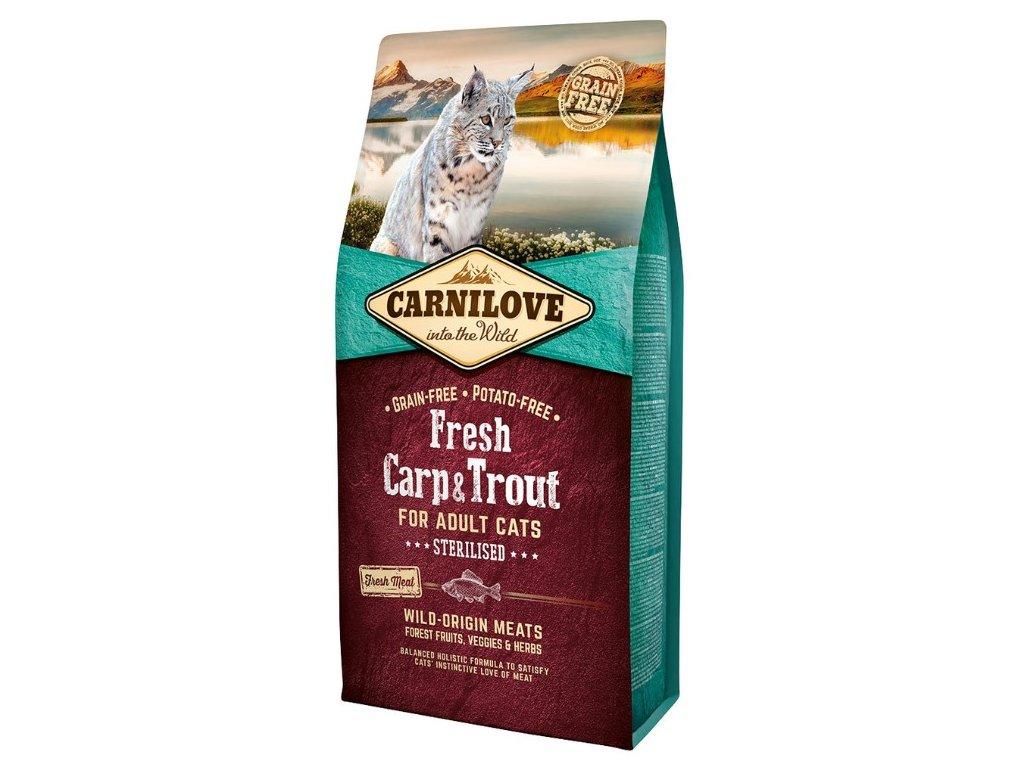 Carnilove Cat Fresh Carp & Trout - Sterilized 6kg - zvìtšit obrázek