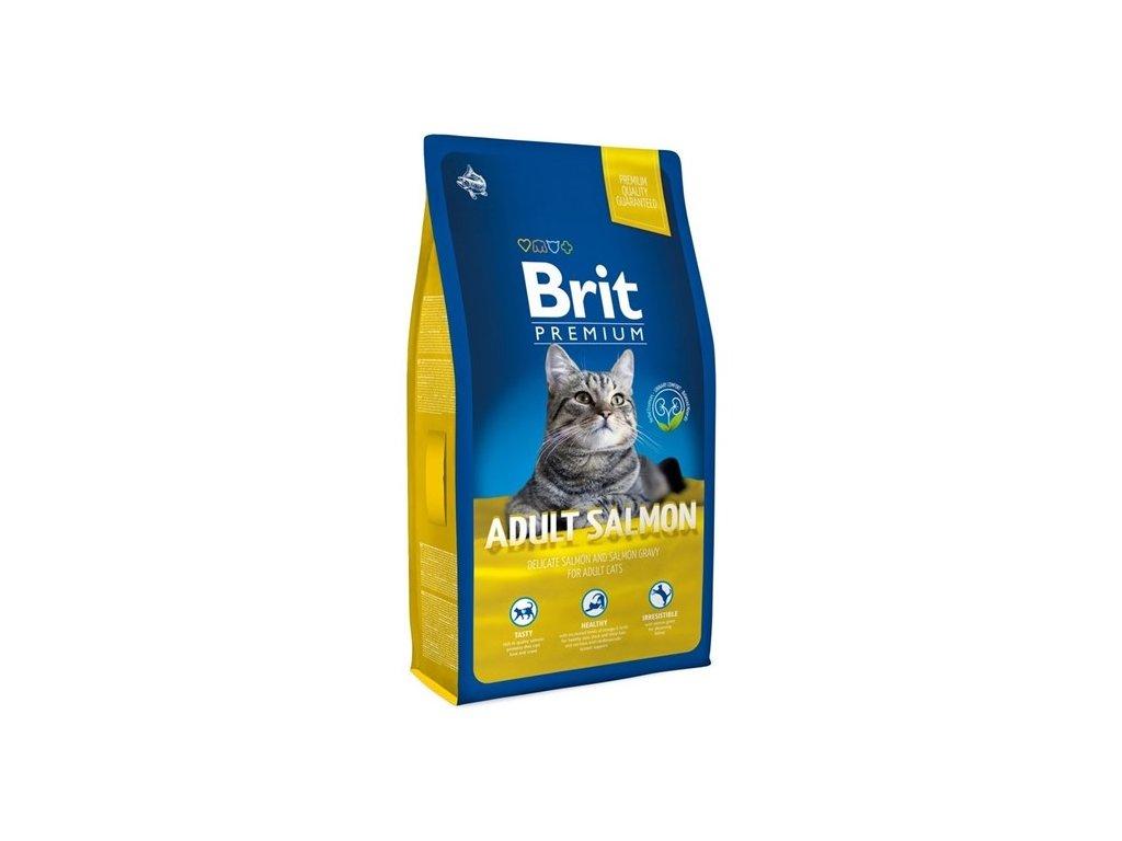 NEW Brit Premium Cat ADULT SALMON 8kg - zvìtšit obrázek