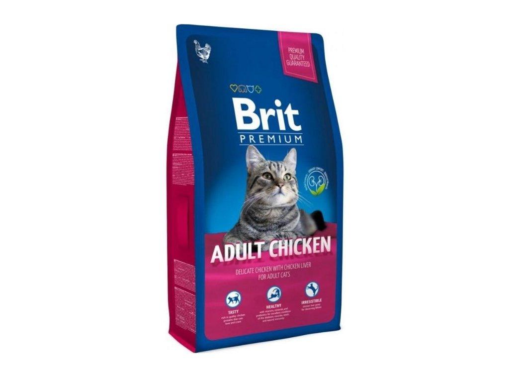 NEW Brit Premium Cat ADULT CHICKEN 8kg - zvìtšit obrázek