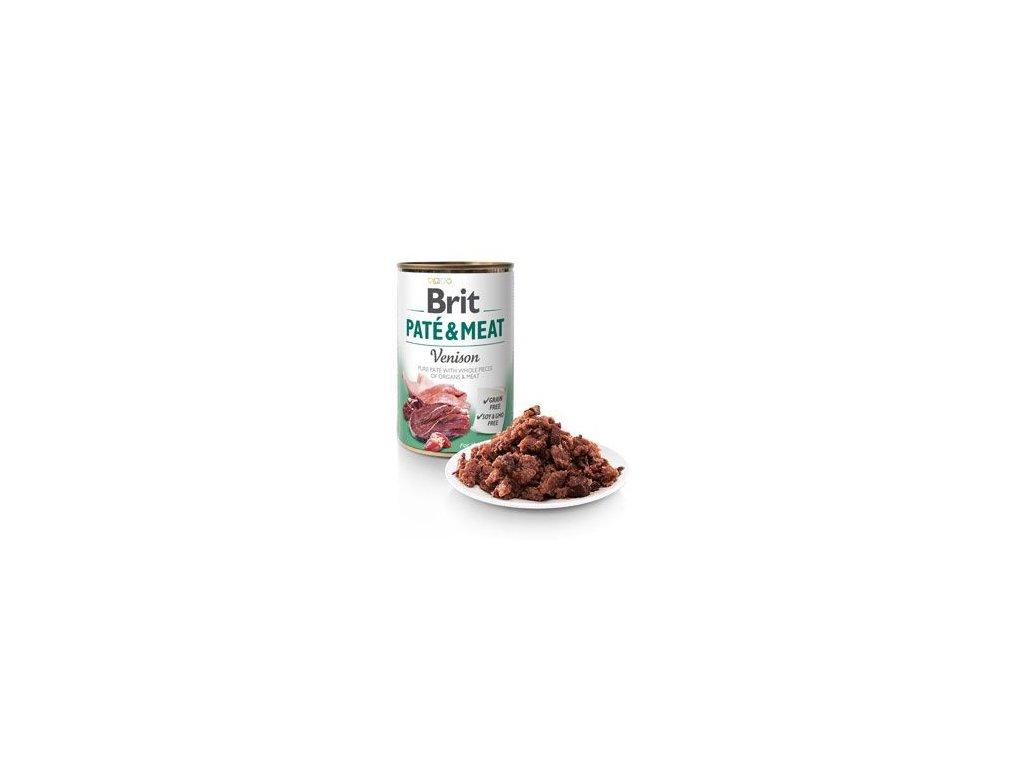 Brit Dog konz Paté & Meat Venison 800g 5+1 zdarma - zvìtšit obrázek