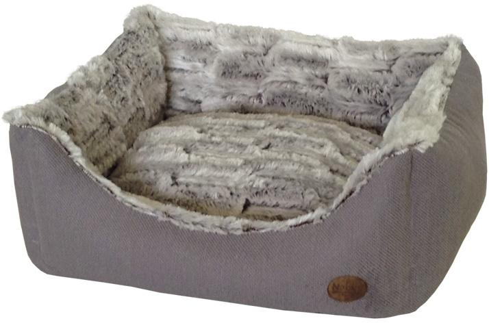 Nobby CACHO luxusní plyšový pelíšek šedý 60x48x19cm - zvìtšit obrázek