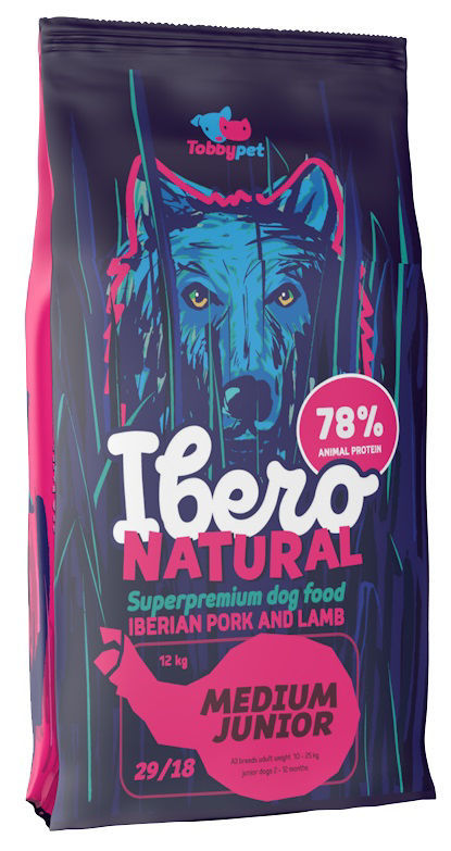 Ibero NATURAL dog MEDIUM JUNIOR 12kg - zvìtšit obrázek